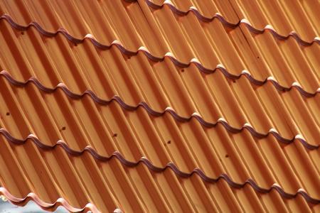 Brown metal roof, metal tile Background