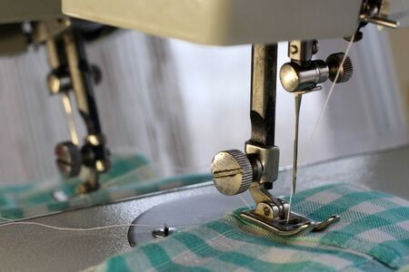 Sewing machine needle so close, macro object