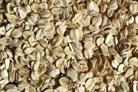 Oatmeal background, useful dry cereals, top view Zdjęcie Seryjne