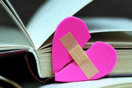 Covering Heart and open book, love