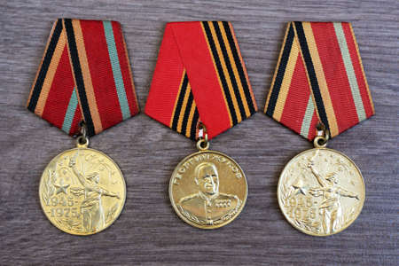 Composition of Victory Day Orders medals Retro