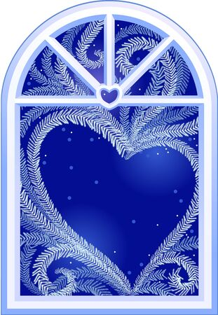 Valentines card. This picture is about warmth of love, how love can melt the ice. No mesh, no blend tools. You can place your text inside heart shaped place.