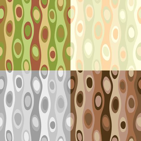grey scale: Patterns with circles in Art nouveau style. Illustration