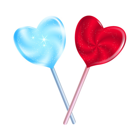 Heart shaped lollypops. Smartly grouped and layered.