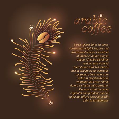 arabische letters: Smartly grouped and layered. Hand-made letters for arabic coffee