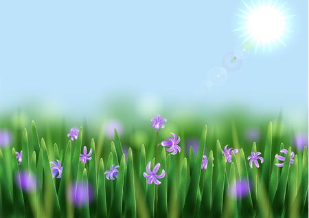 blinking: Summer background. Smartly layered image