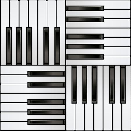 Piano Keyboard, square seamless pattern. Illusztráció