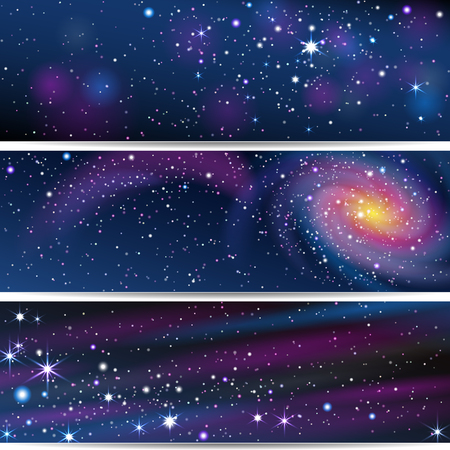 Three Space Backgrounds.