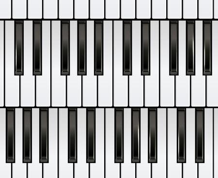 Piano Keyboard Seamless. Illusztráció