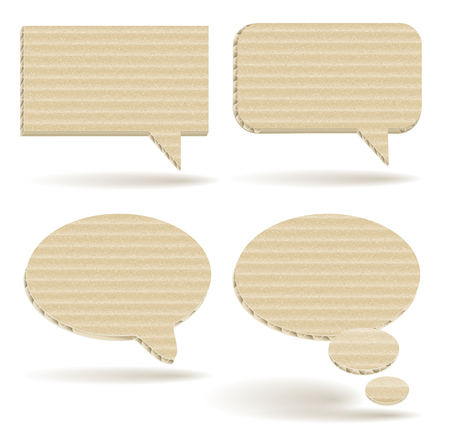 Cardboard Talk Balloons Stock fotó - 80538101