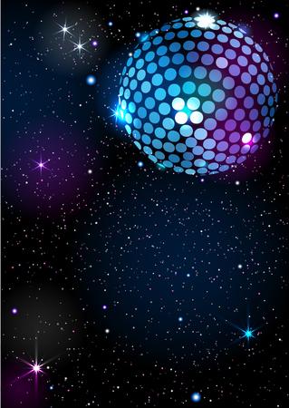 Disco Ball. Vector background. Illusztráció