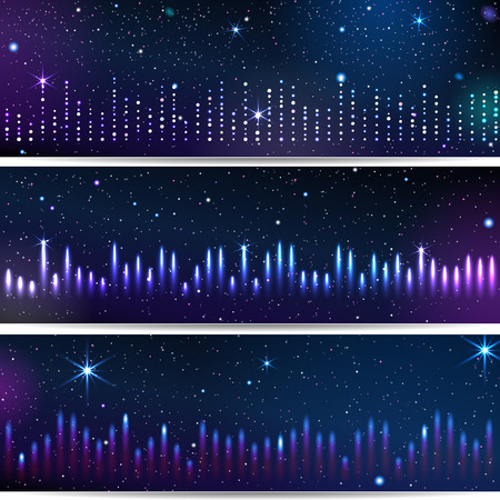 Three Backgrounds With Equalizer. Stock fotó - 80538492