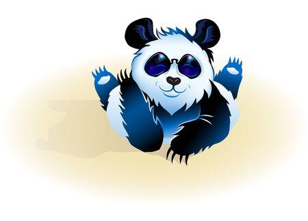 Lying cute Panda.