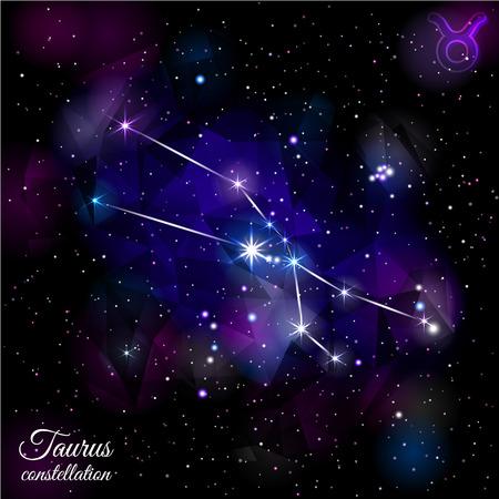 Taurus Constellation With Triangular Background. Stock fotó - 81893014
