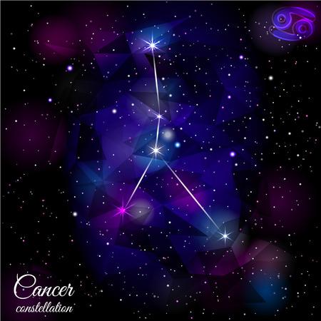 Cancer Constellation With Triangular Background.
