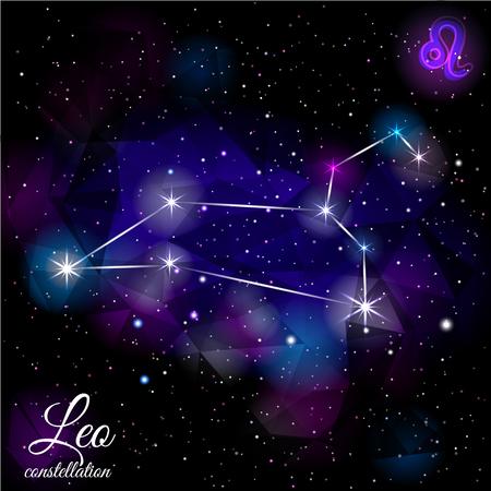 Leo Constellation With Triangular Background.