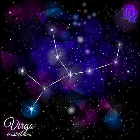 Virgo Constellation With Triangular Background.