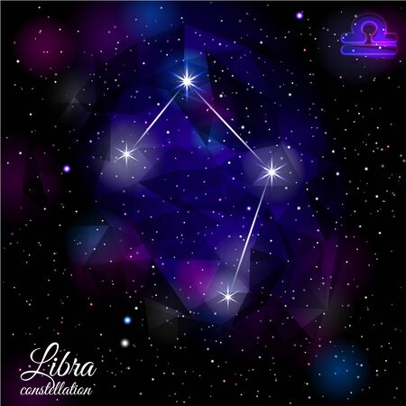 Libra Constellation With Triangular Background.