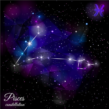 Pisces Constellation With Triangular Background. Stock fotó - 81893131