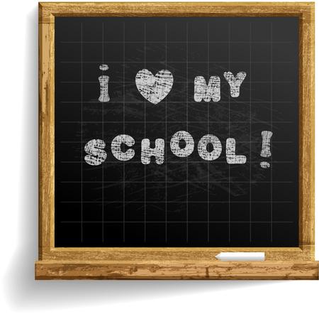 School Blackboard with expression I love my school . Stock fotó - 81891468