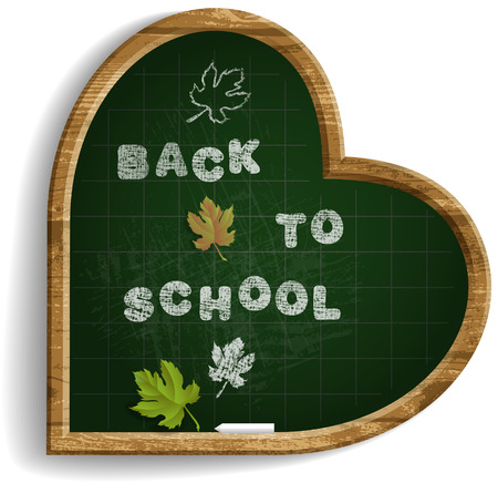 Heart Shape Blackboard with expression Back to School