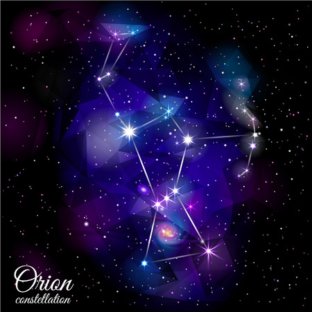 Orion Constellation. Ilustrace
