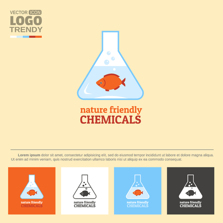 Symbol of nature friendly chemicals.