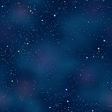 Starry night space background 向量圖像