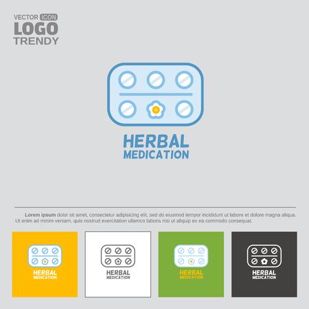 Herbal medication signage design.