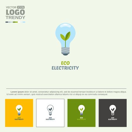 Symbol of nature friendly light energy. Illustration