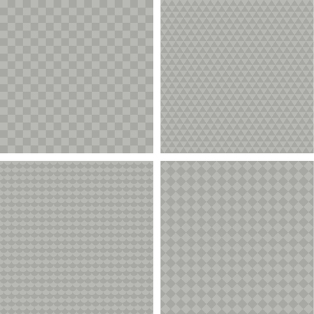 Set of pattern with different transparency grids. Illustration