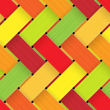 Plastic Basketwork colorful design