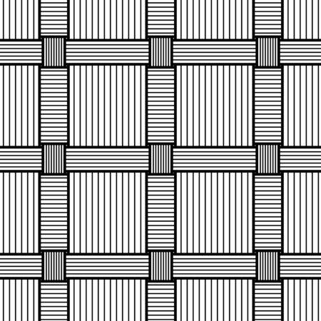 Basketwork Drawing. Seamless pattern. Stock Illustratie