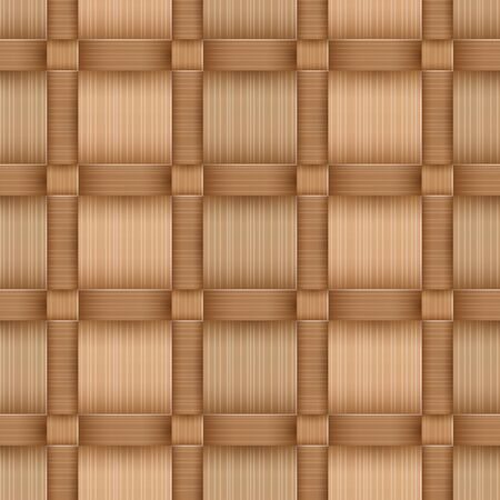 Birchbark Basketwork. Seamless pattern.