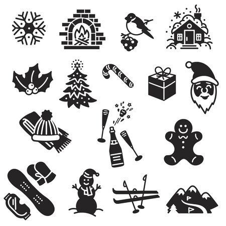 Winter icon set.