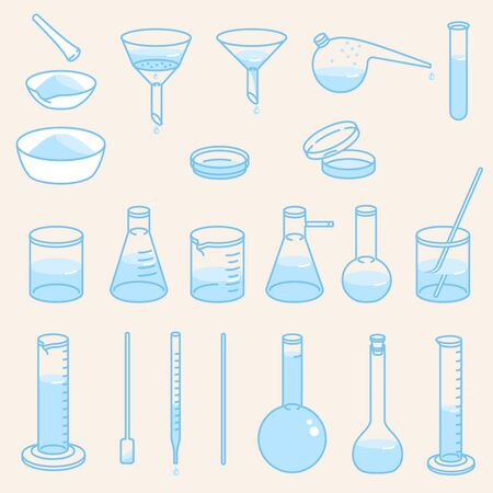 Chemical laboratory glassware.
