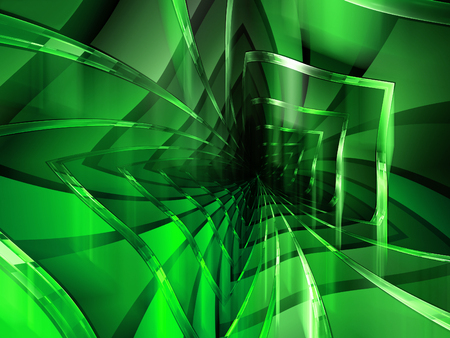 dip: Abstract computer-generated image modern tech style green background