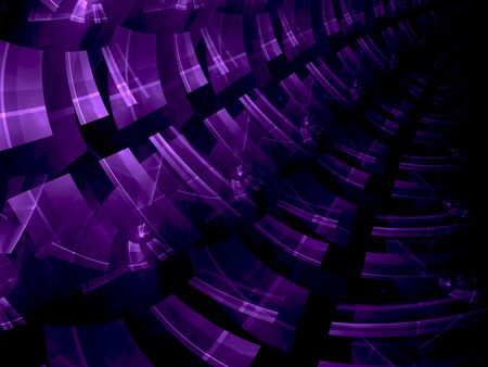 diagonally: Abstract computer-generated modern violet image of the passing diagonally up the tunnel for background or banner Stock Photo