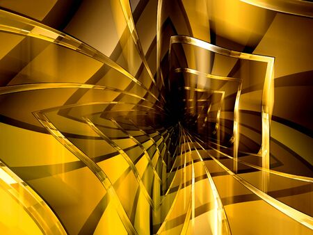 dipping: Abstract computer-generated image modern yellow and brown background