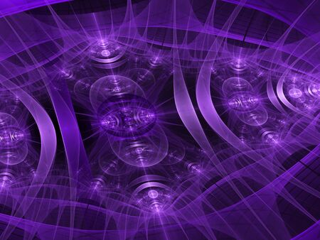 virtual reality simulator: Abstract purple computer-generated image in technology style with patches of light