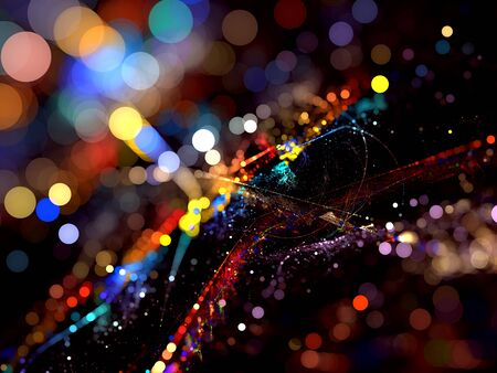 Abstract background of bokeh light blur-based digitally generated image