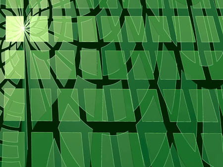plurality: Abstract green digitally generated background consisting of a plurality of rows of scales Stock Photo
