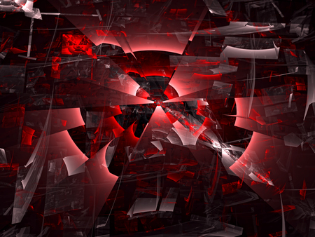chaos: Abstract computer-generated image black and red chaos background Stock Photo