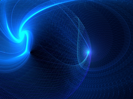 whirl: Wavy technology background -abstract computer-generated image with net, curls, waves and light effects. Fractal art for banners, backdrop, web-design