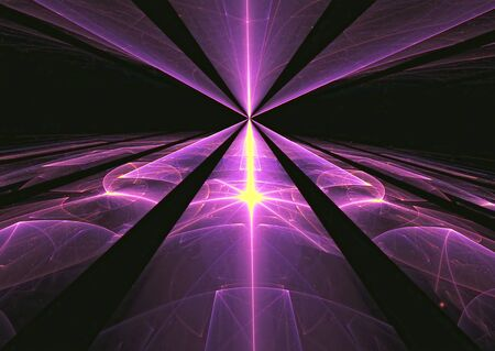 3 point perspective: Purple background - computer-generated dark image glass or metal surface with perspective and light effects. Abstract technology background for web-design, covers, posters. Stock Photo