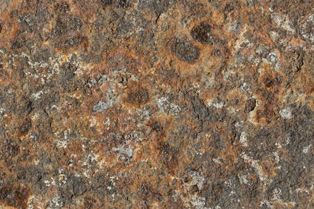rust covered: Old metal surface covered with rust. Authentic grunge texture. Close-up photo