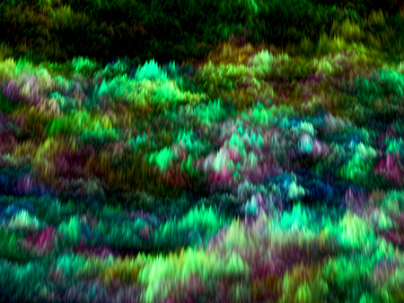 turbulence: Abstract green blurred background - computer-generated image. Chaos waves like futuristic cloud. Bright colored background for banners, covers, web-design Stock Photo
