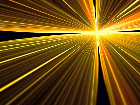 emanating: Abstract bright rays background - computer-generated image. Simple modern background - rays emanating from the center. Stock Photo