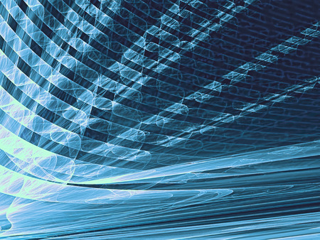 diminishing point: Abstract technology background - computer-generated image. Fractal artwork - golden rays with perspective and textured surface. For banners, posters, web-design.
