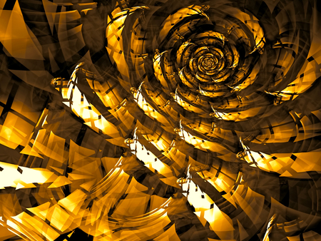 abstract rose: Abstract fractal flower - computer-generated image checkered. Digital art: unusual rose in technology style. Stock Photo
